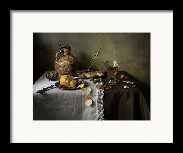 Fine Art Photograph Framed Print featuring the photograph In Olive Tones by Helen Tatulyan