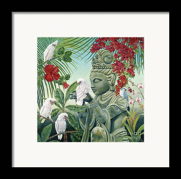 Buddah Framed Print featuring the painting In The Company Of Angels by Danielle Perry