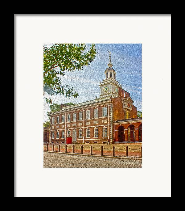 Pennsylvania Framed Print featuring the photograph Independence Hall Philadelphia by Tom Gari Gallery-Three-Photography
