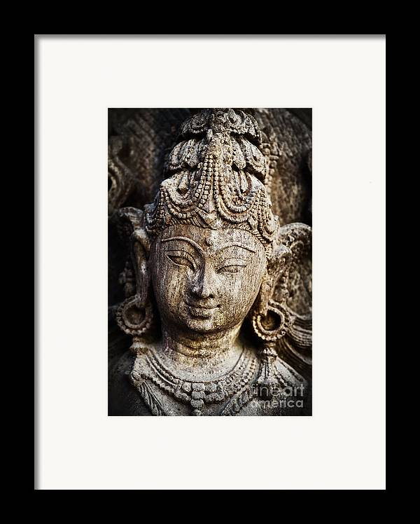 Granite Framed Print featuring the photograph Indian Goddess by Tim Gainey