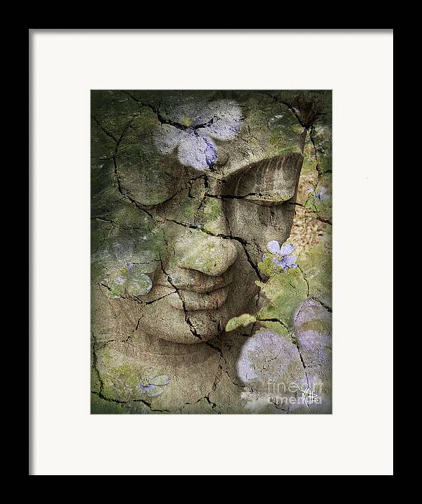 Buddha Framed Print featuring the mixed media Inner Tranquility by Christopher Beikmann