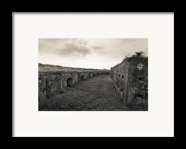 Fort Macomb Framed Print featuring the photograph Inside Fort Macomb by David Morefield