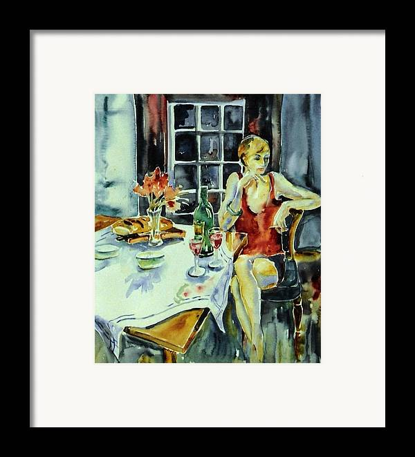 Woman Framed Print featuring the painting Isabelle From Paris -  by Trudi Doyle