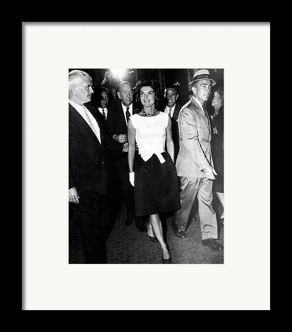 Retro Framed Print featuring the photograph Jacqueline Kennedy Doesn't Need A Red Carpet by Retro Images Archive
