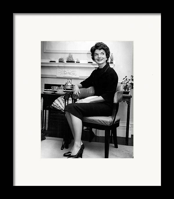 Retro Framed Print featuring the photograph Jacqueline Kennedy Sitting Pretty by Retro Images Archive