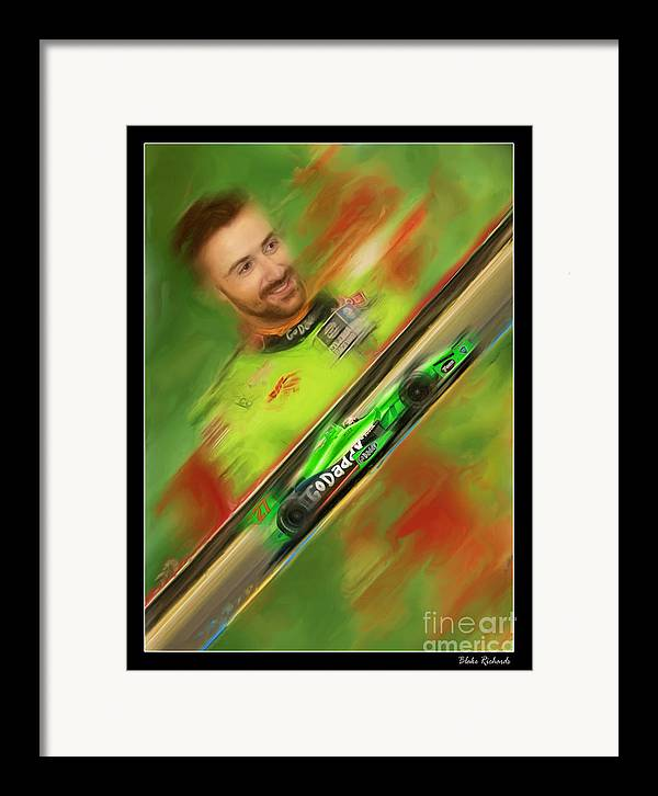 James Hinchcliffe Framed Print featuring the photograph James Hinchcliffe by Blake Richards