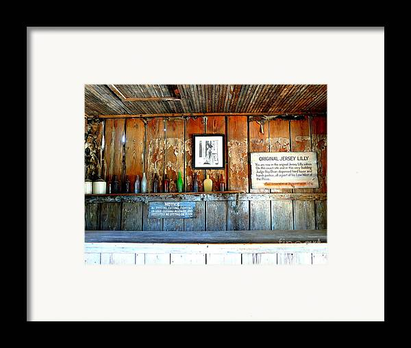 Jersey Lilly Saloon Framed Print featuring the photograph Jersey Lilly Saloon by Avis Noelle