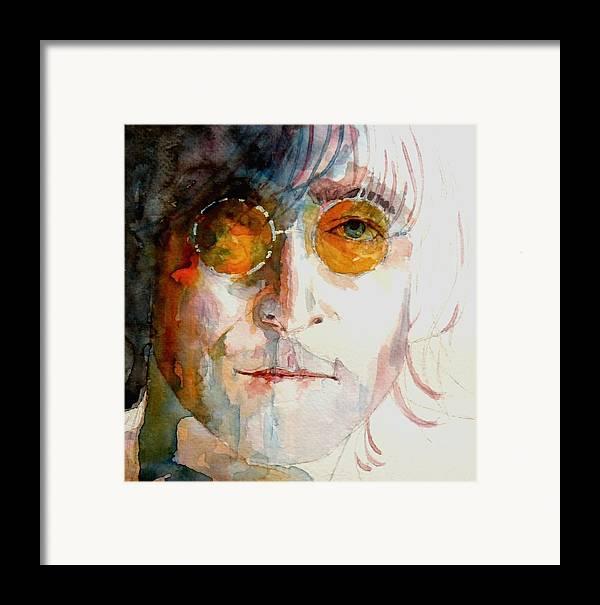 John Lennon Framed Print featuring the painting John Winston Lennon by Paul Lovering