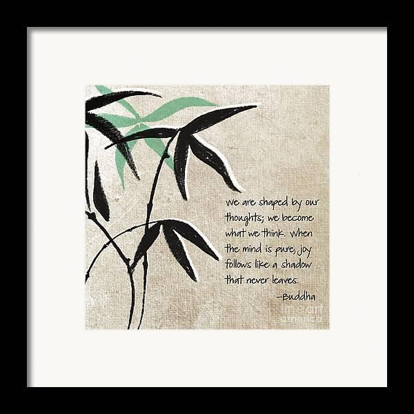 Joy Framed Print featuring the mixed media Joy by Linda Woods