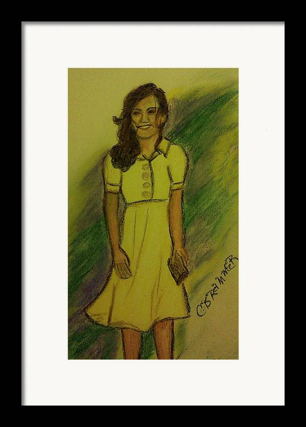 Kate Middleton Framed Print featuring the pastel Kate Middleton by Christy Saunders Church
