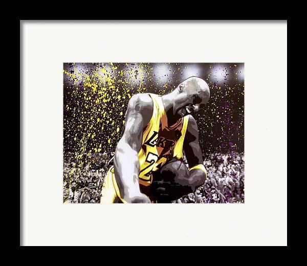 Kobe Framed Print featuring the painting Kobe by Bobby Zeik