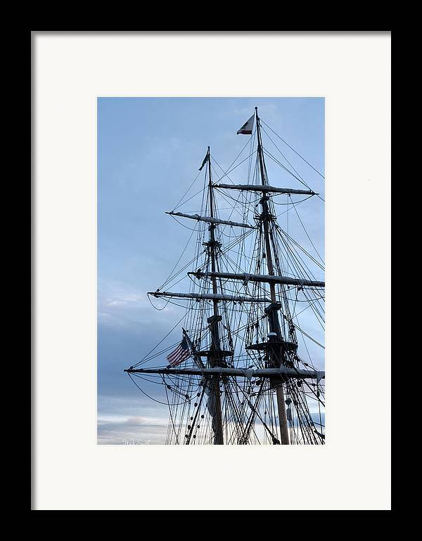 Washington Framed Print featuring the photograph Lady Washington's Masts by Heidi Smith