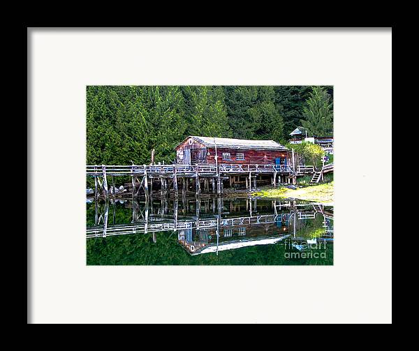 British Columbia Framed Print featuring the photograph Lagoon Cove by Robert Bales