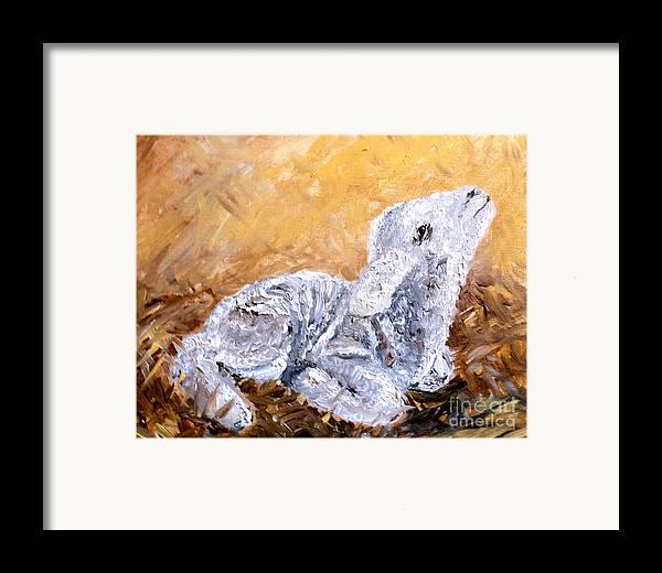 Lamb Framed Print featuring the painting Lamb by Amanda Dinan