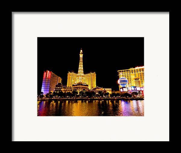 Paris Las Vegas Hotel And Casino Framed Print featuring the photograph Las Vegas 012 by Lance Vaughn