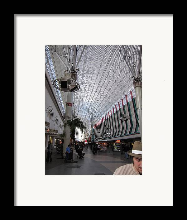 Las Framed Print featuring the photograph Las Vegas - Fremont Street Experience - 12121 by DC Photographer
