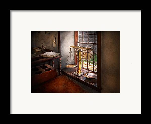 Hdr Framed Print featuring the photograph Lawyer - Scales Of Justice by Mike Savad
