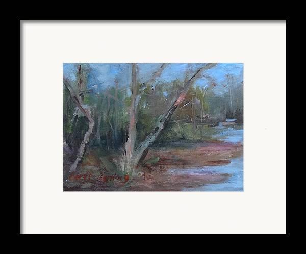Leiper's Creek Framed Print featuring the painting Leiper's Creek Study by Carol Berning