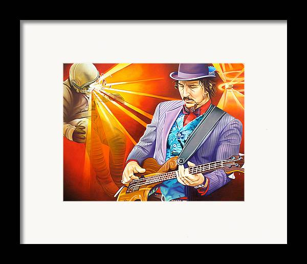 Les Claypool Framed Print featuring the painting Les Claypool's-sonic Boom by Joshua Morton