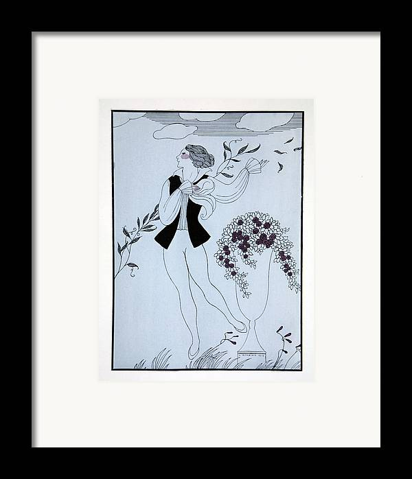 Ballet Framed Print featuring the painting Les Sylphides by Georges Barbier