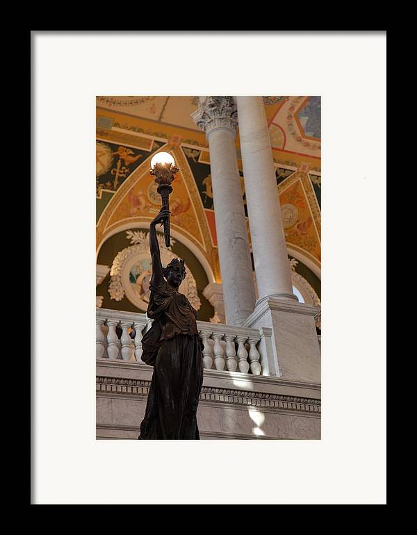 Washington Framed Print featuring the photograph Library Of Congress - Washington Dc - 011311 by DC Photographer