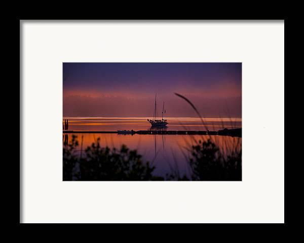 Penn Cove Framed Print featuring the photograph Lifting Morning Fog by Ron Roberts