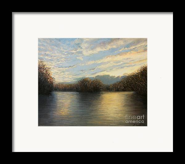 Illustration Framed Print featuring the painting Light At The End Of The Day by Kiril Stanchev