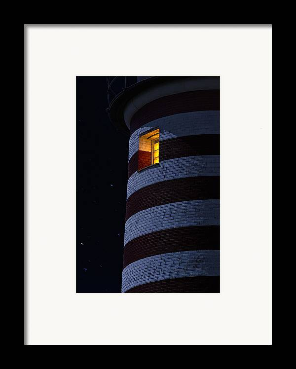 Lighthouse Framed Print featuring the photograph Light From Within by Marty Saccone