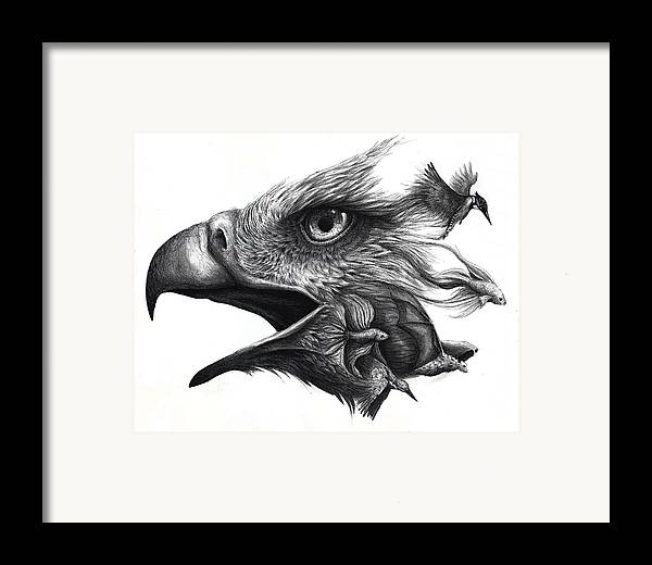 Bird Framed Print featuring the painting Like Smoke by Danielle Trudeau