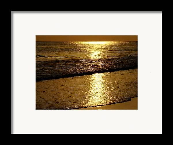 Panama City Beach Framed Print featuring the photograph Liquid Gold by Sandy Keeton
