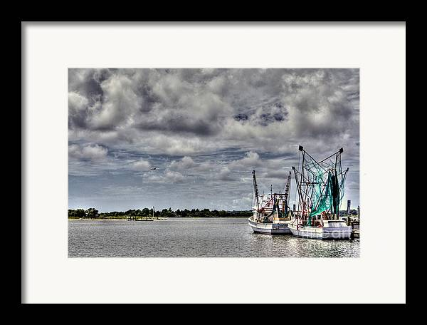 Swansboro North Carolina Framed Print featuring the photograph Little Shrimpers  by Benanne Stiens