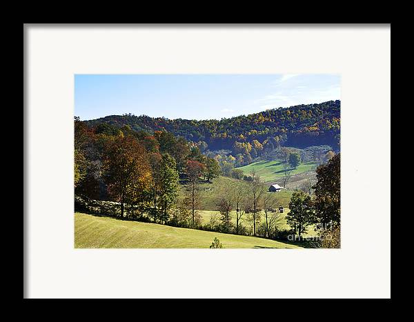 View Framed Print featuring the photograph Log Cabin In The Mountains by Thomas R Fletcher