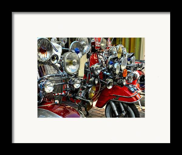 Vespa Framed Print featuring the photograph London 089 by Lance Vaughn