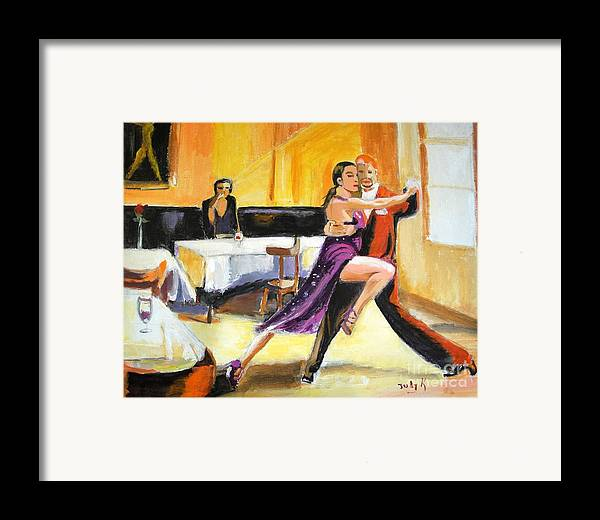 Dance Framed Print featuring the painting Lone Audience by Judy Kay