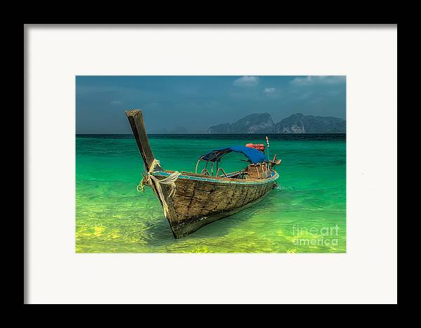 Asia Framed Print featuring the photograph Longboat by Adrian Evans