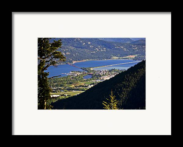 Sandpoint Framed Print featuring the photograph Looking Down On Sandpoint by Albert Seger