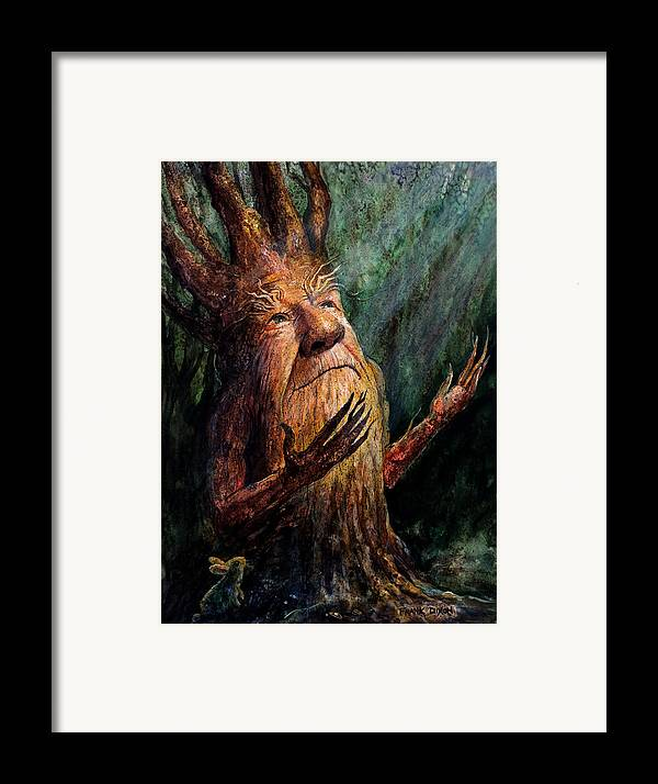 Treetch Framed Print featuring the painting Looking To The Light by Frank Robert Dixon