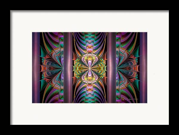 Abstract Framed Print featuring the digital art Loonie Behind Bars by Peggi Wolfe