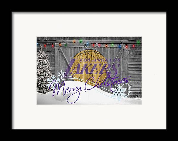 Lakers Framed Print featuring the photograph Los Angeles Lakers by Joe Hamilton