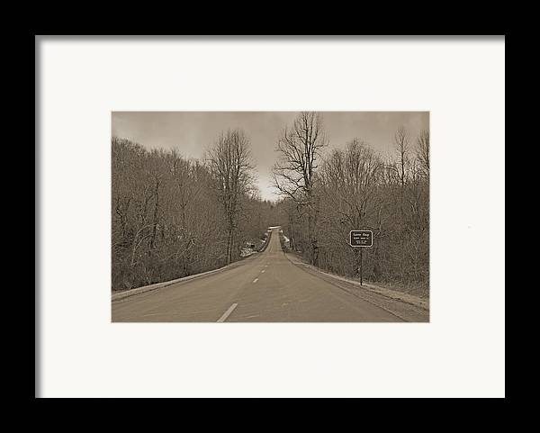Blue Framed Print featuring the photograph Love Gap Blue Ridge Parkway by Betsy C Knapp