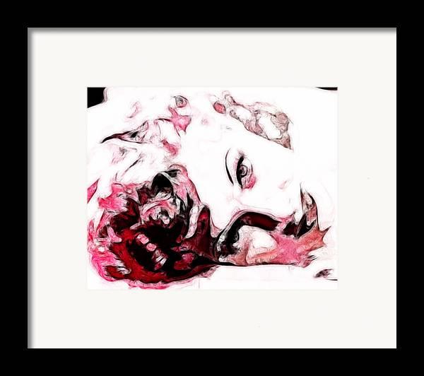 Lucille Ball Framed Print featuring the digital art Lucille Ball by D Walton