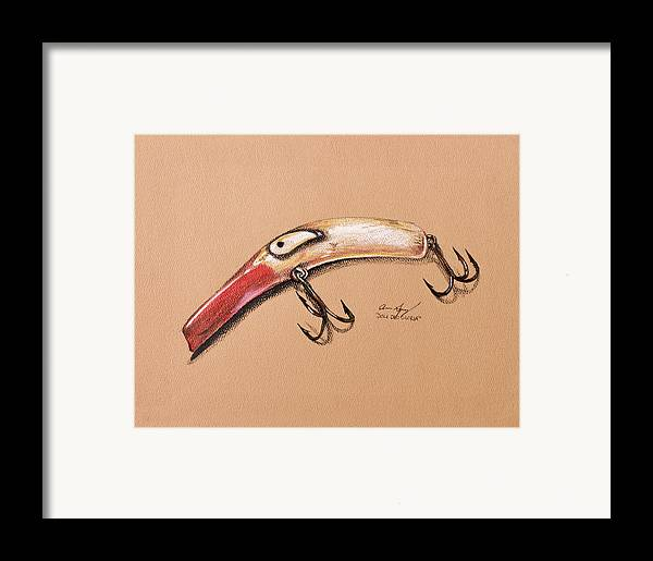 Fish Framed Print featuring the drawing Lure by Aaron Spong