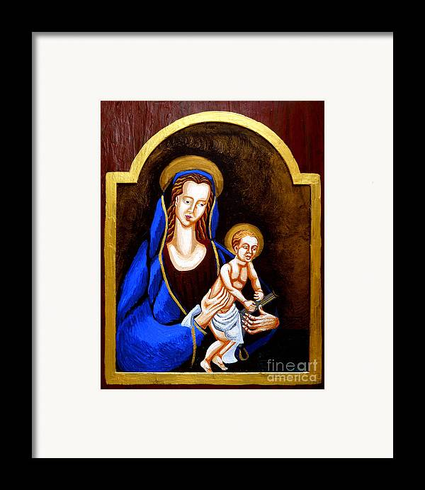 Madonna And Child Framed Print featuring the painting Madonna And Child by Genevieve Esson