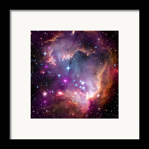 Universe Framed Print featuring the photograph Magellanic Cloud 3 by The Vault - Jennifer Rondinelli Reilly