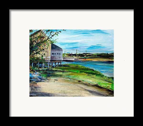 Billy's Cowder House Framed Print featuring the painting Maine Chowder House by Scott Nelson