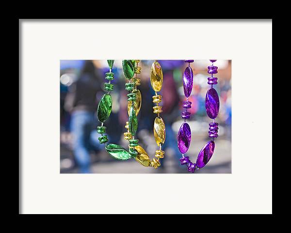 mardi Gras Beads Framed Print featuring the photograph Mardi Gras Beads by Ray Devlin