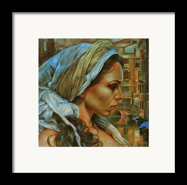 Girl Portrait Framed Print featuring the painting Maria by Arthur Braginsky