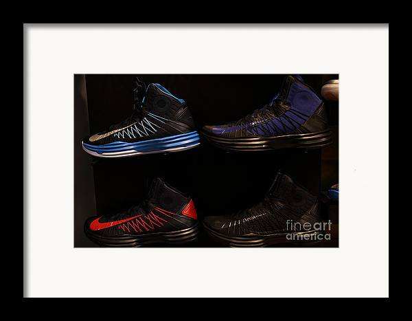Shoe Framed Print featuring the photograph Men's Sports Shoes - 5d20654 by Wingsdomain Art and Photography