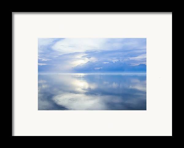 Horizon Framed Print featuring the photograph Merging Horizons by Nila Newsom