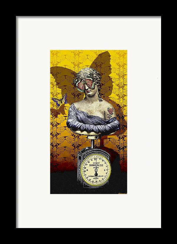 Surrealism Framed Print featuring the digital art Metamorphosis by Larry Butterworth